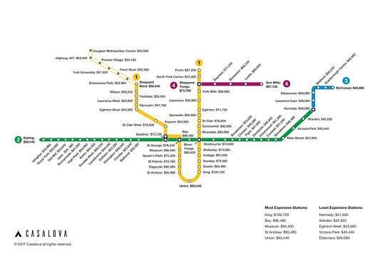 نقشه ای متفاوت برای ساکنان و علاقمندان به سکونت در تورنتو