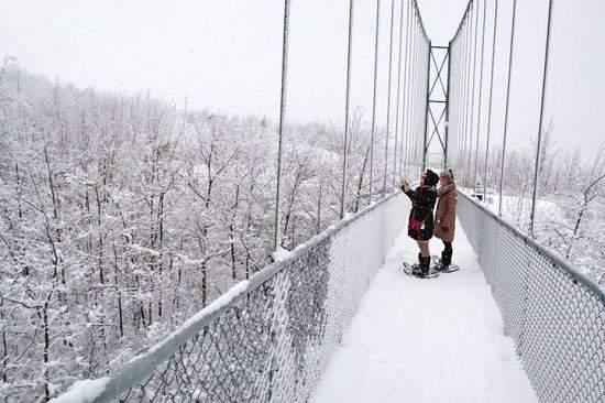 برف نوردی برروی پل معلق ، دو ساعت تا تورنتو