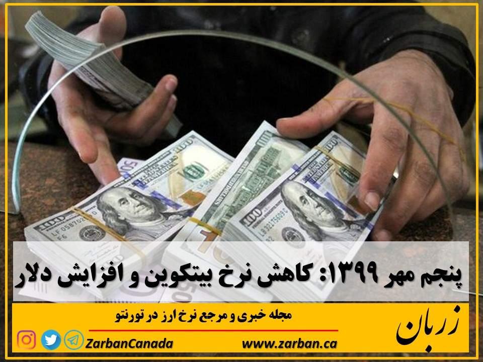 خلاصه وضعیت بازار طلا و ارز پنجم مهر 1399