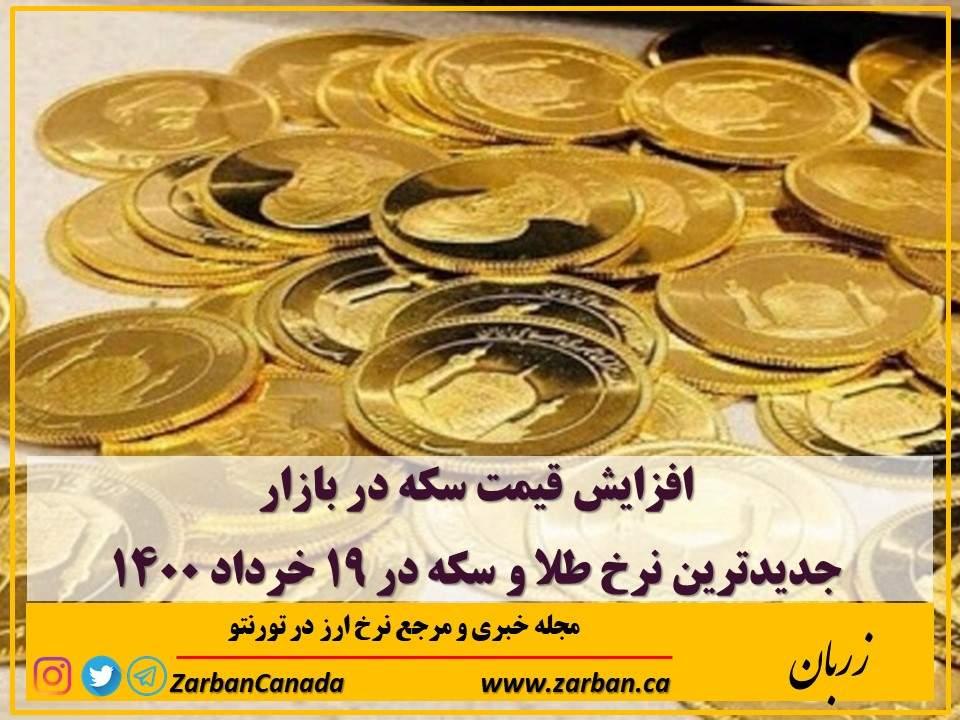 افزایش قیمت سکه در بازار به ۱۰ میلیون و ۷۹۶ هزار تومان